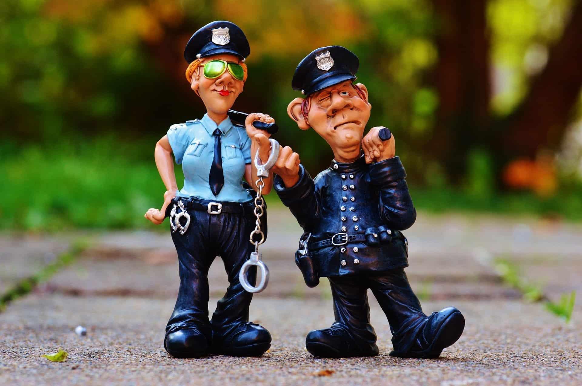 Polis skämt